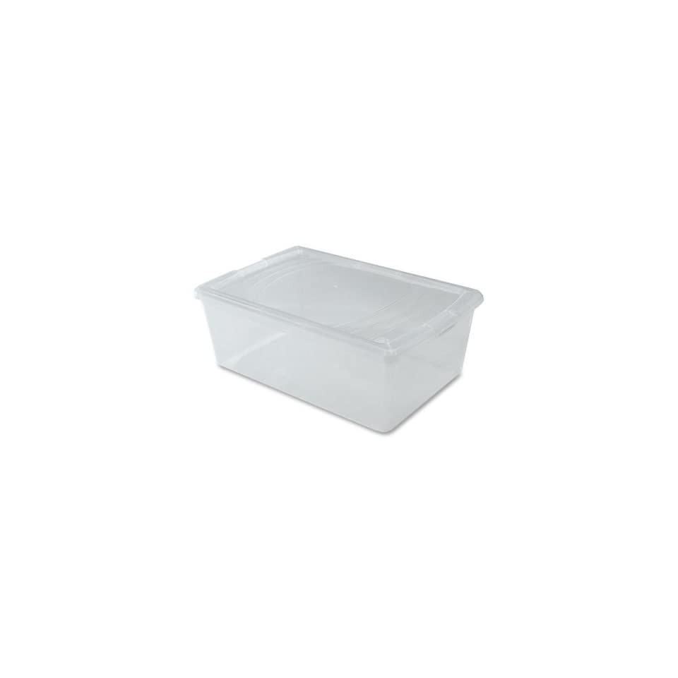 Clear Plastic Storage Box  18.5 Quart
