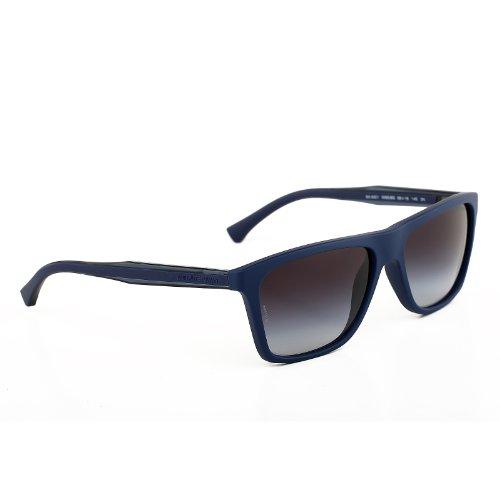 Emporio Armani EA4001 Sunglasses-50658G Blue Rubber (Gray Gradient Lens)-56mm