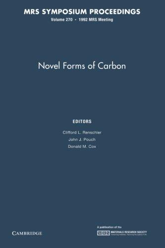 Novel Forms Of Carbon: Volume 270 (Mrs Proceedings)