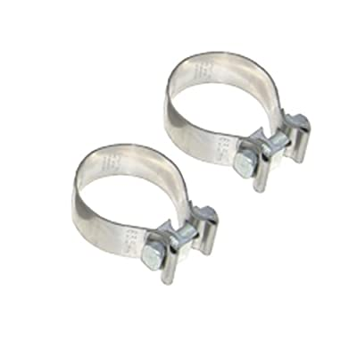 """Pypes Exhaust HVC24 3"""" Diameter 1"""" Wide Stainless Steel Exhaust Band Clamp"""