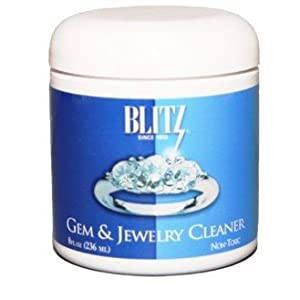 Blitz 8 Oz Jewelry Cleaner with Cleaning Basket