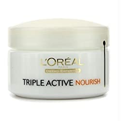 LOreal Dermo-Expertise Triple Active Nourish Intensive Hydrating Moisturiser (Dry to Very Dry Skin) - 50ml/1.7oz
