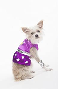 Fashion Pet Halloween Superdog Girl Costume for Dogs, X-Small