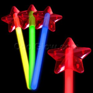 Fun Central O049 Glow in the Dark Star Wand - Assorted