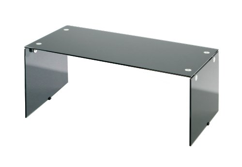 Premier Housewares Coffee Table Tempered Glass, 39 x 45 x 90 cm, Black