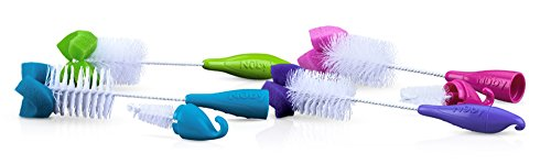 Nuby Bottle and Nipple Brush with Sponged Tip, 2-Count