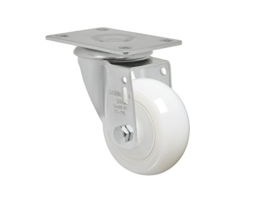 "Schioppa L12 Series, Gla 312 Nt, 3 X 1-1/4"" Swivel Caster, Non-Marking Nylon Wheel, 325 Lbs, Plate 3-3/4 X 2-1/2"" (Bolt Holes 3 X 1-3/4"") front-398233"