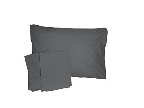 Baby Doll Solid Crib/ Toddler Bed Sheet Set, Grey