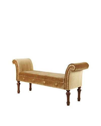 Jennifer Taylor Home Elise Roll Arm Bench, Gold