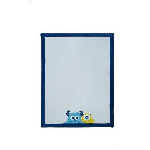 Kids Line Monsters Inc. Nursery Crib Bedding Collection (Embroidered Boa Blanket) - 1