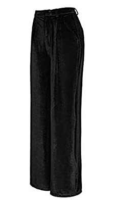 Urban CoCo Women's Vogue Velvet Palazzo Wide Leg Pants