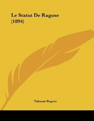 Le Statut de Raguse (1894)