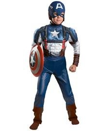 Disguise Marvel Captain America The Winter Soldier Movie 2 Captain America Retro Classic Muscle Boys Costume, Medium (7-8)