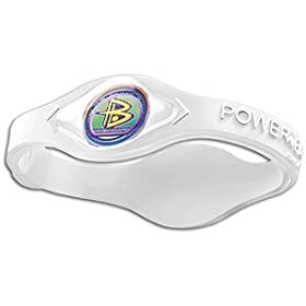 Power Balance Bracelet Clear W White Letters Size M