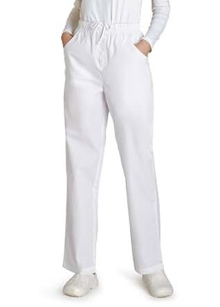Adar Mock Fly Pants, 2XLarge, White
