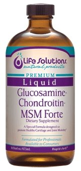 Life Solutions - Liquid Glucosamine 1500 Chondroitin-Msm Forte-16Oz.