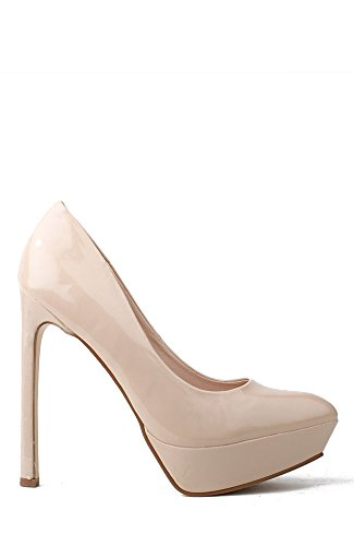 Wild Rose Lavania01 Pointy Toe Platform Stiletto Pump - nudpat