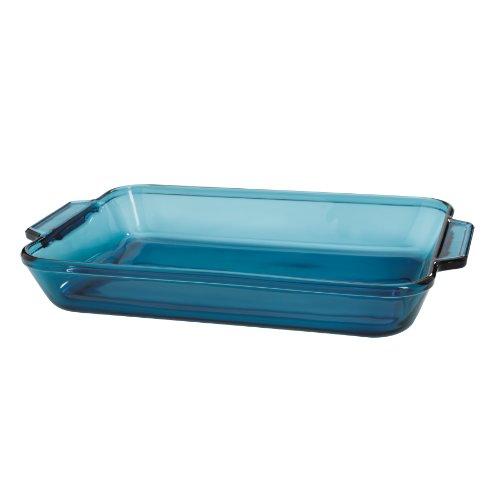 Amazon.com: Anchor Hocking Blue Glass Bakeware 3 Qt. Rectangular