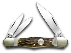 German BUCK CREEK Whittler Deer Stag Handles Pocket Knife Knives