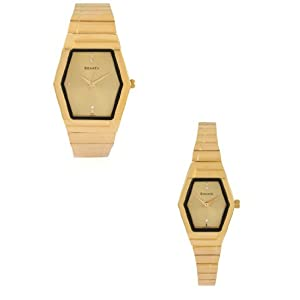 70838074YM02 Gold/Gold Analog Pair Watch