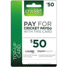 Cricket Wireless Cricket Prepaid Wireless $50.00 30 Day Refill Card at Sears.com