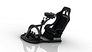 Trak Racer RS8-04-B Racing Driving Simulator Cockpit Video Gaming Chair with Gear Shifter Mount MATTE BLACK by RS8-04-B