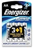 Battery, Ultimate Lithium Aa 3+1 Free