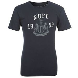 Official Newcastle United Mens Graphic Logo Football T-Shirt Top Small