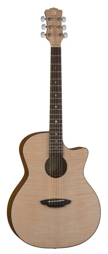 Luna Gypflm Gypsy Flame Acoustic Guitar