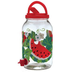 Jarden Watermelon Sun Tea Beverage Jug with Spigot