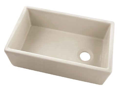 Belle foret BFF4KITBI Apron Front Fireclay Kitchen Sink (Bisque)