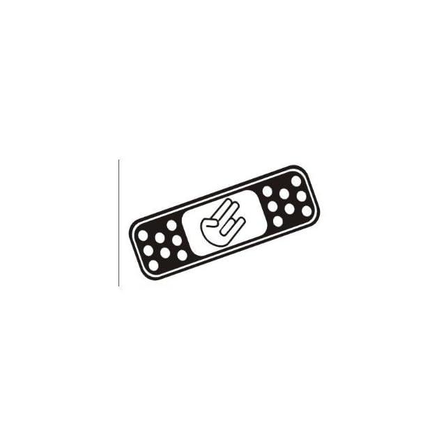 BAND AID SHOCKER CUSTOM   8 BLACK   Vinyl Decal WINDOW Sticker   NOTEBOOK, LAPTOP, WALL, WINDOWS, ETC.