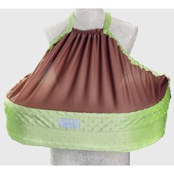 Double Blessings Ez-2-nurse Twins Breastfeeding Pillow Keylime Minky Dot