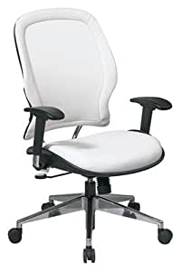 Ergonomic Mid Back White Office Task Chair Office Products