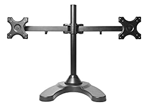 MonMount Dual LCD Freestanding Monitor Stand Up to 24-Inch, Orange (LCD-6460O)