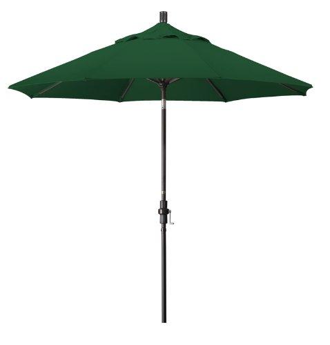 California Umbrella 9-Feet Aluminum Market Umbrella with Bronze Pole, Forest Green