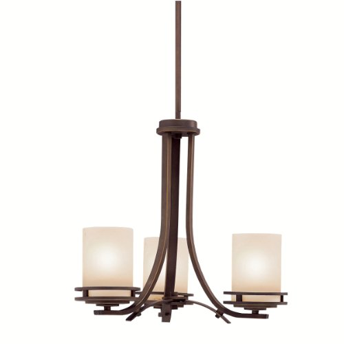 B000O5NMBU Kichler Lighting 1671OZ 3-Light Hendrik Incandescent Chandelette, Old Bronze