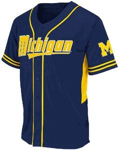 Buy Michigan Wolverines Adult Bullpen Baseball Jersey by Colosseum by Colosseum