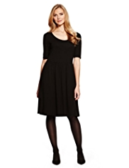 M&S Collection Scoop Neck Fit & Flare Dress
