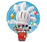 Disney Mickey Hot Air Balloon Jumbo Foil Balloon (White/Blue) Party Accessory