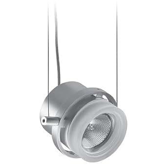 Lightolier Tangent MR16 Suspended Glass Cylinder Silver Track Lighting Head