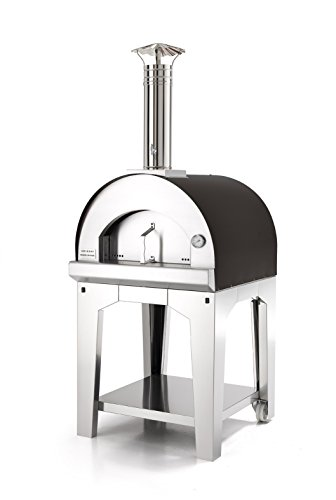 FONTANA FORNI Forno Toscano Margherita Portable Wood Fired Oven, Small, Stainless Steel with Graphite (Small Wood Oven compare prices)