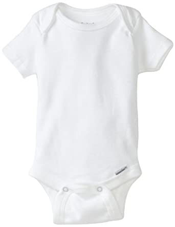 Gerber Brand 4 Pack Organic Bodysuits Brand, White, Newborn