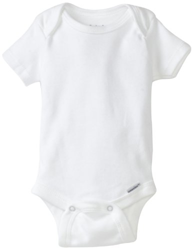 Gerber Brand 4 Pack Organic Bodysuits Brand, White, 0-3 Months front-239956