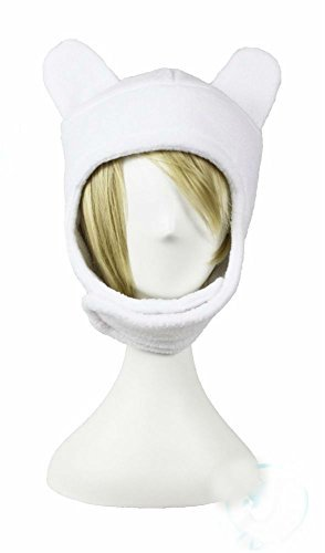 Adventure Time Finn Fleece Hat Cute Awesome All Sizes Cosplay Anime Costume (Adventure Time Finn Adult Costume)
