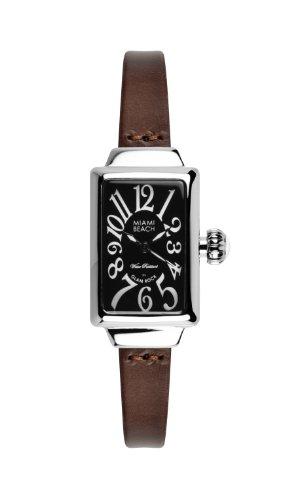 Glam Rock 0.96.3082 - Reloj analógico de cuarzo para mujer, correa de cuero color marrón