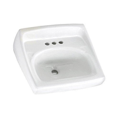 American Standard 0355.012.020 Lucerne Wall-Mount Lavatory Sink with 4-Inch Faucet Holes, White