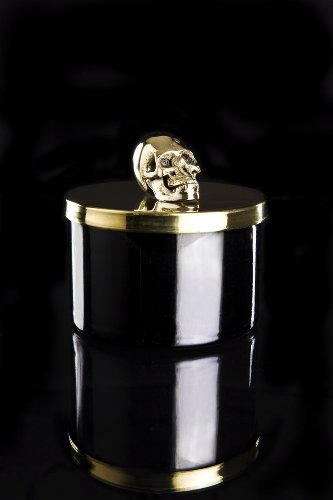 D.L. Skull Candle with Gold Artisan Lid, 11-Ounce