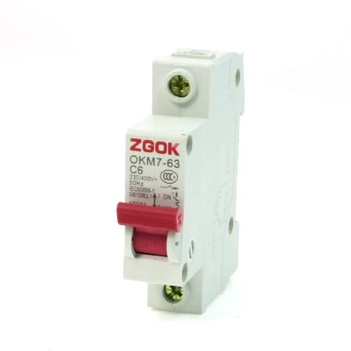 Water & Wood Okm7-63 C6 1 Pole Mcb Miniature Circuit Breaker Ac 230V 400V 6A