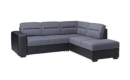 Sofá de la esquina Sofá esquinero Sydney 2 con Función cama sofá